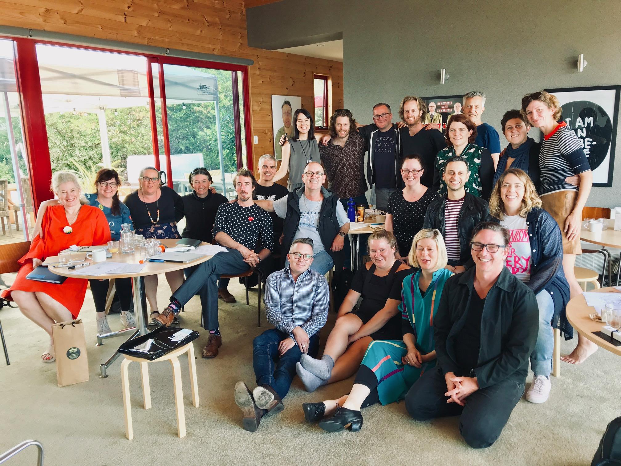 Arts Leaders Program participants in Hobart, January 2018