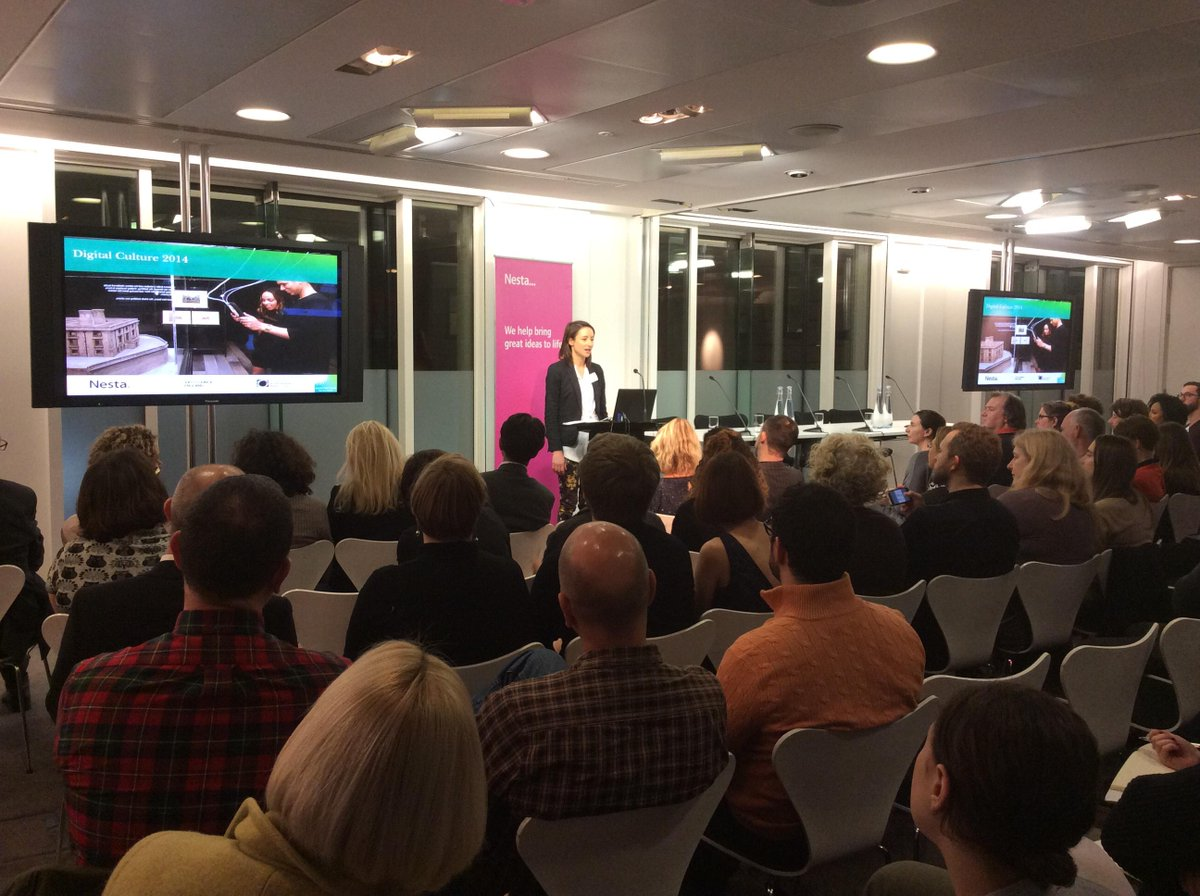 Presenting the findings of the Digital Culture Study at Nesta, London