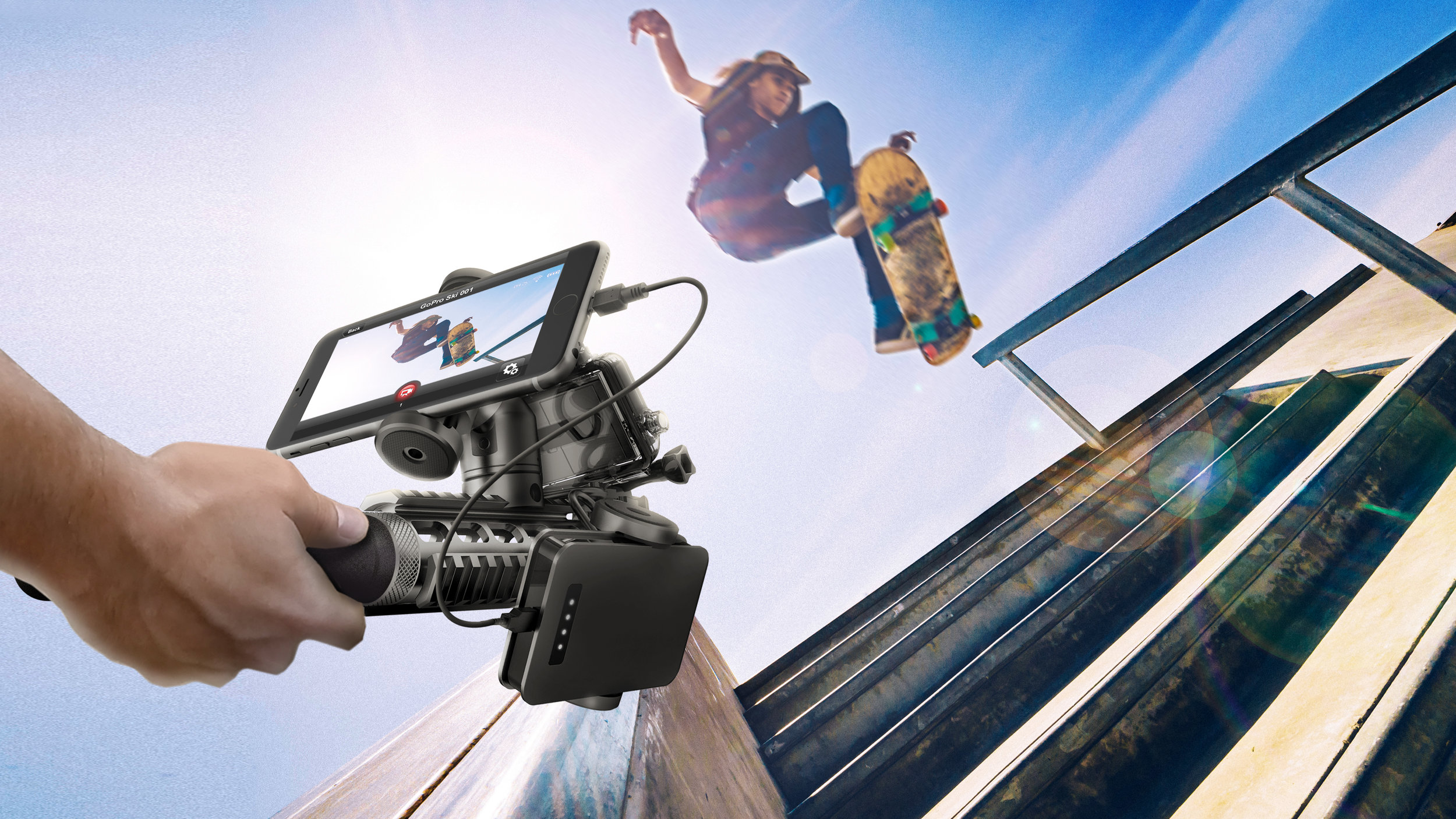 Picatinny Miniature Tripod becomes hand held rig to shoot live action