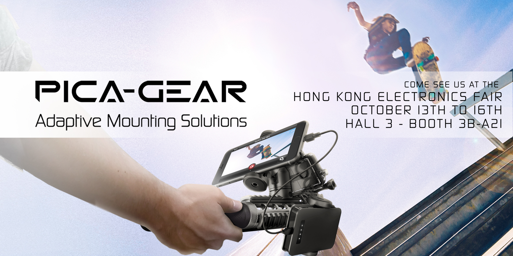 pica-pod portable camera mounting solution - HKTDC launch