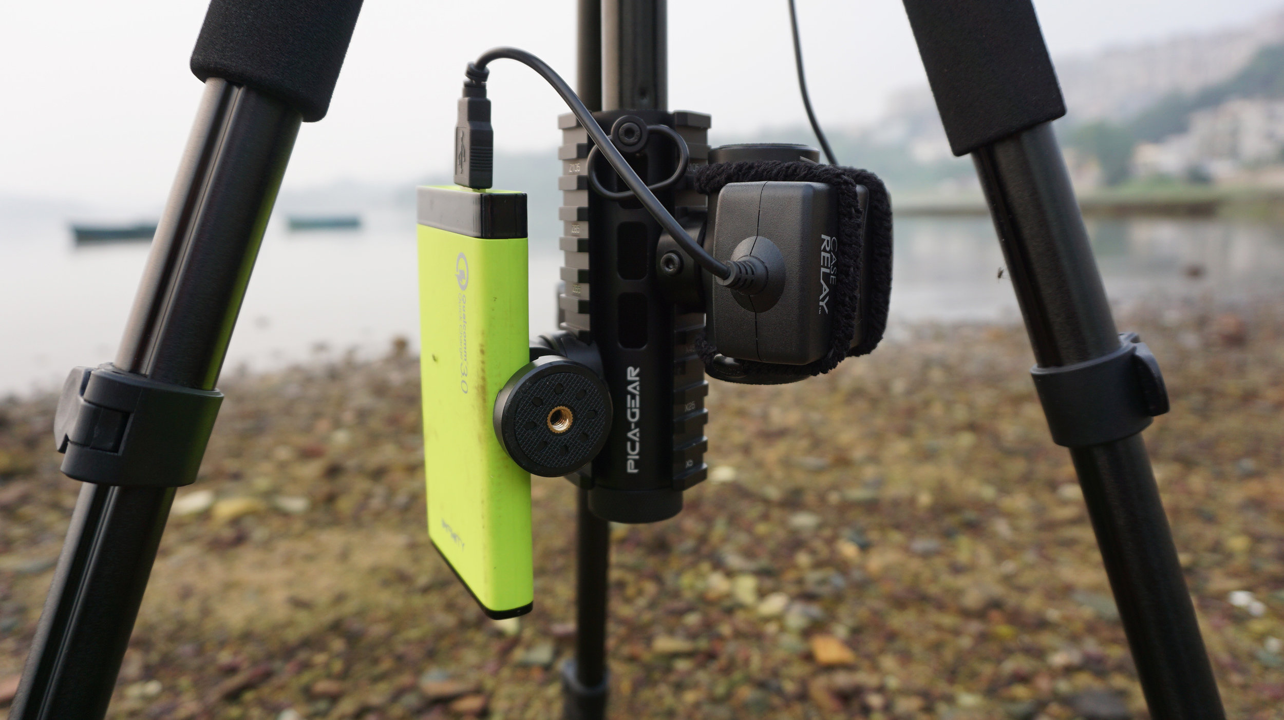 PICA-GEAR Pica-Pod attached to full-size tripod bottom screw attachment