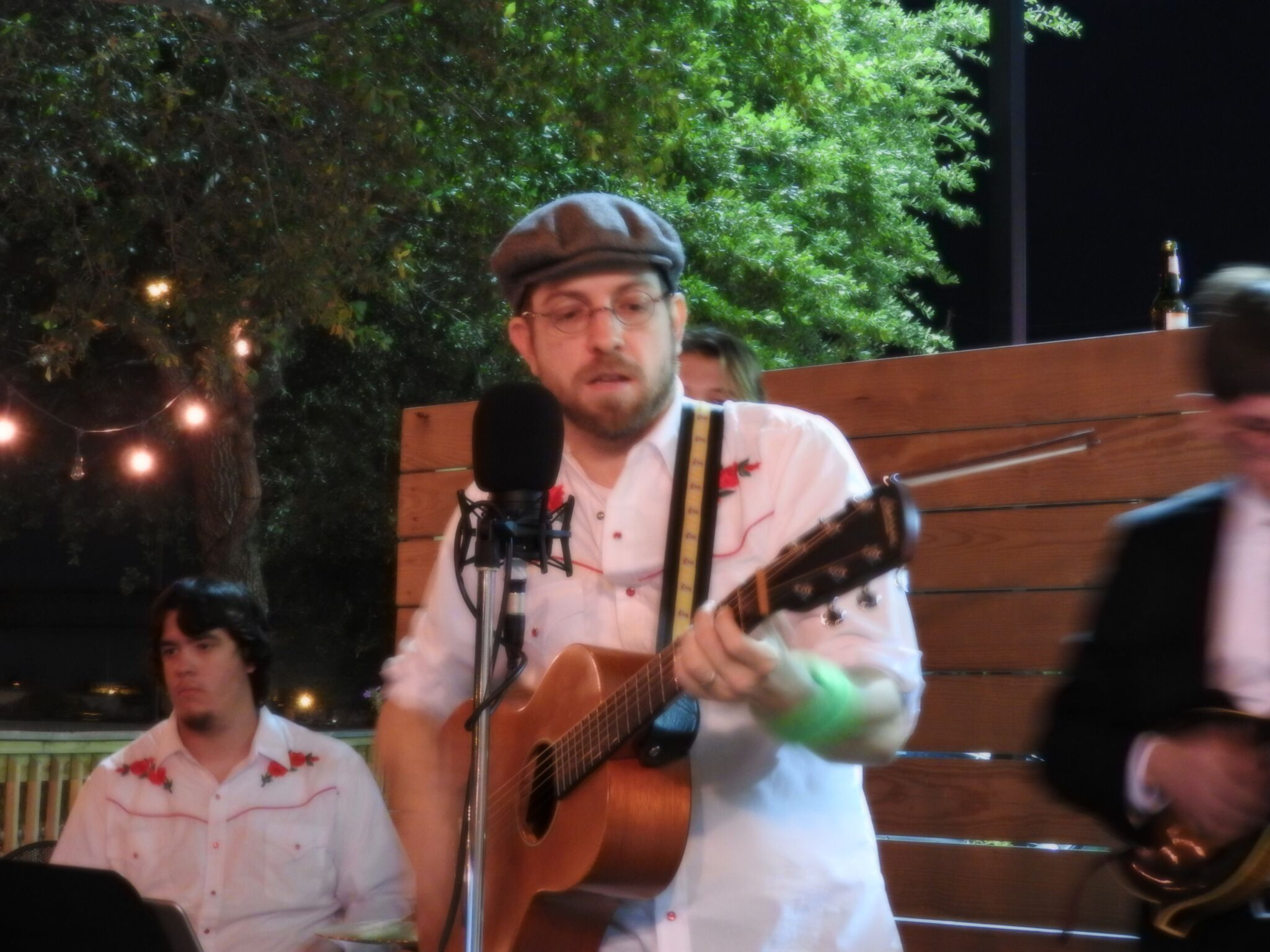 Dr. Garreth Broesche, performing with Cougar Roots @ the Nook
