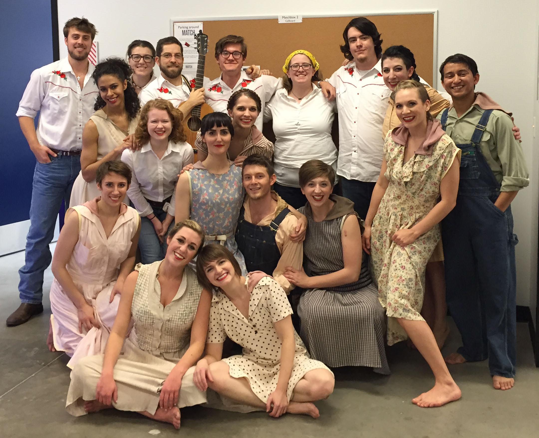 Cougar Roots alongside members of the Open Dance Project after their debut show together.