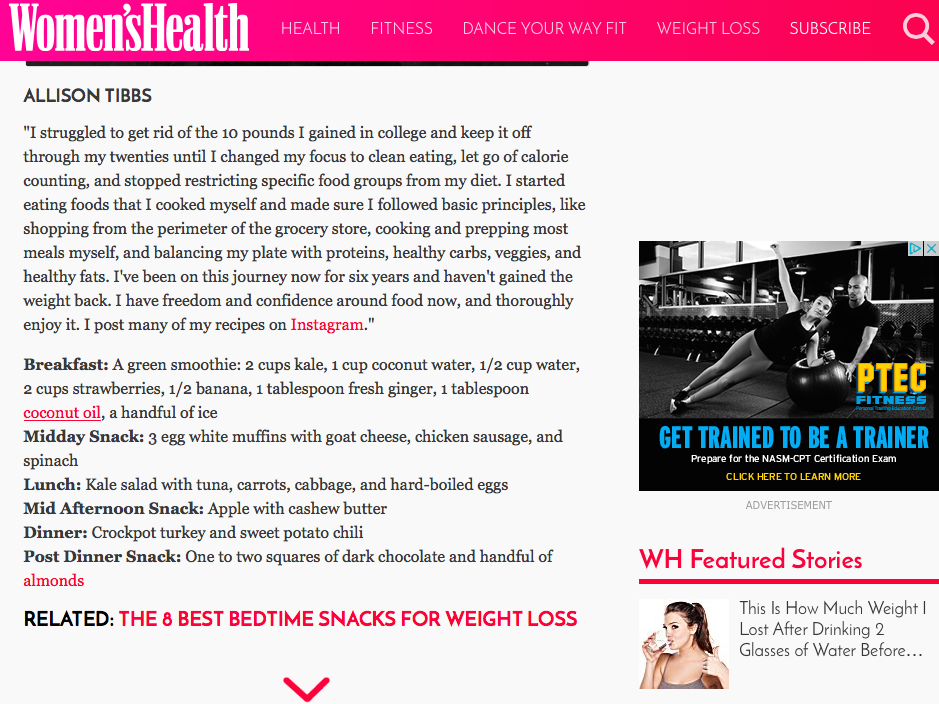 Entire Article:  http://www.womenshealthmag.com/weight-loss/diet-to-lose-10-pounds