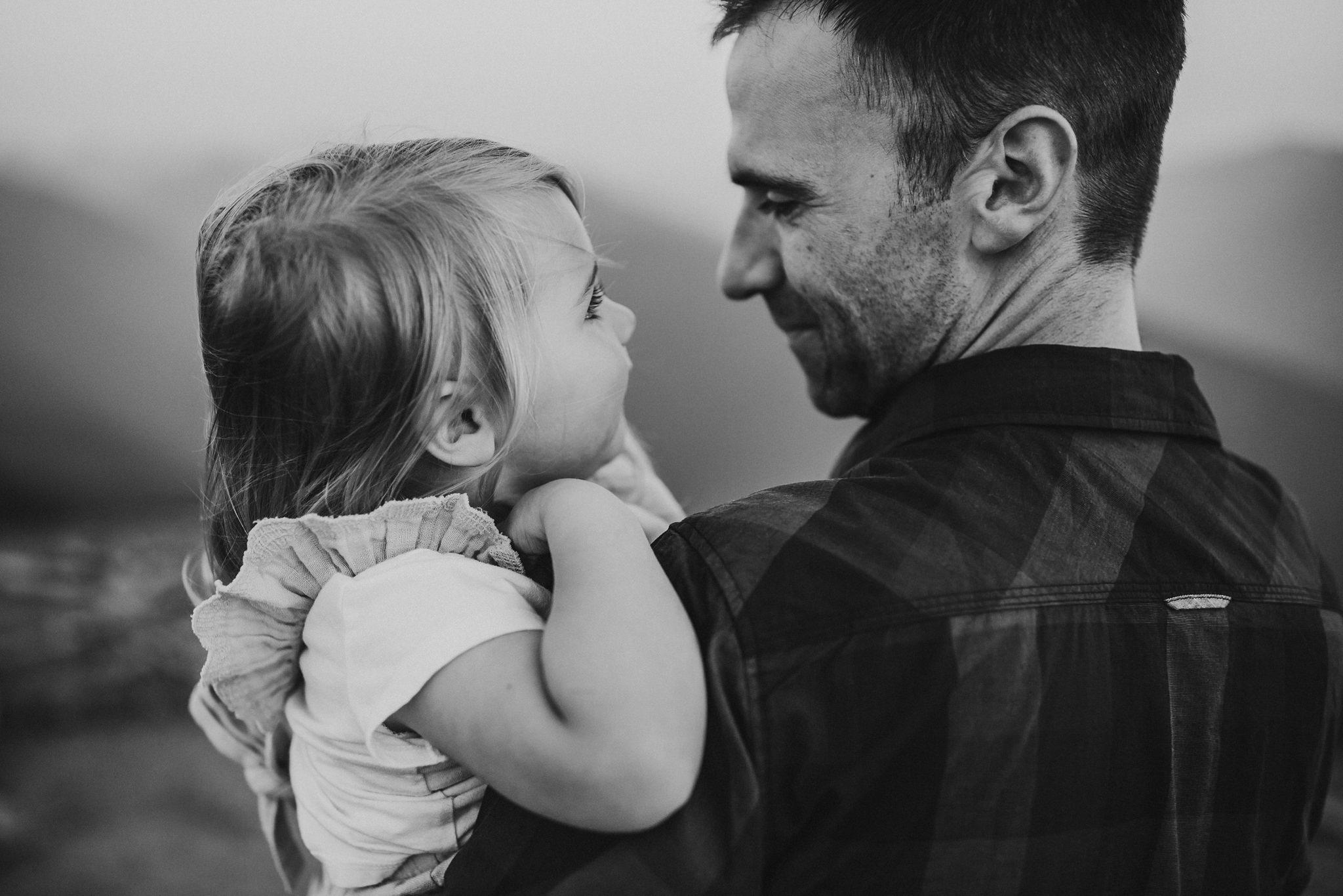 daughter laughs at father at hurricane ridge