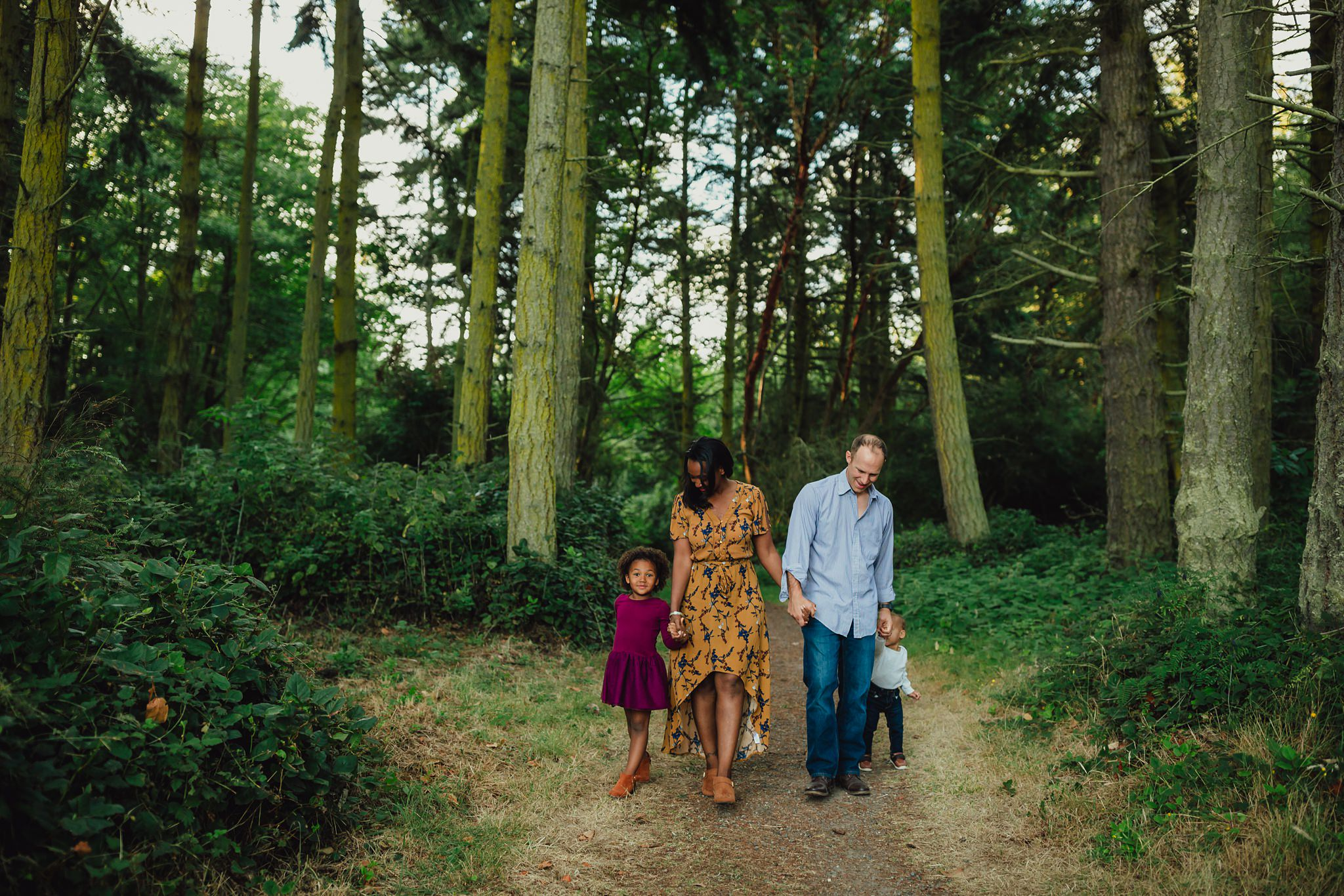Fort Ebey State Park portraits in the woods