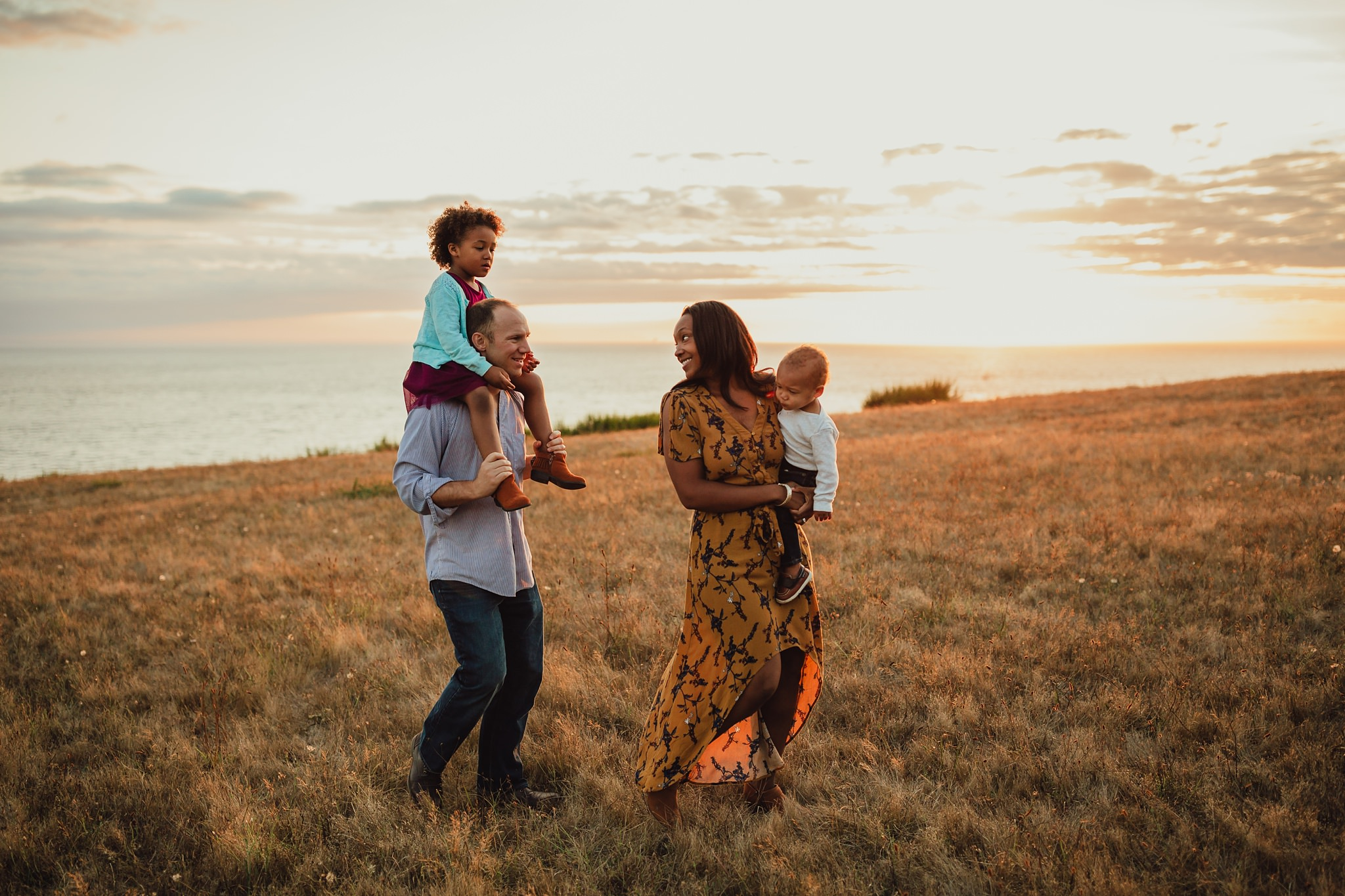 golden hour pictures at Fort Ebey State Park