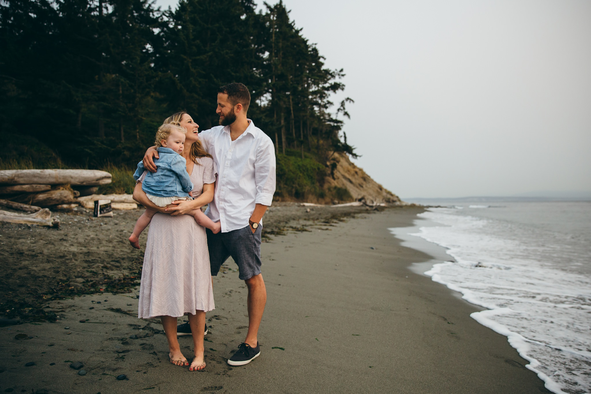beach portraits at Fort Ebey State Park
