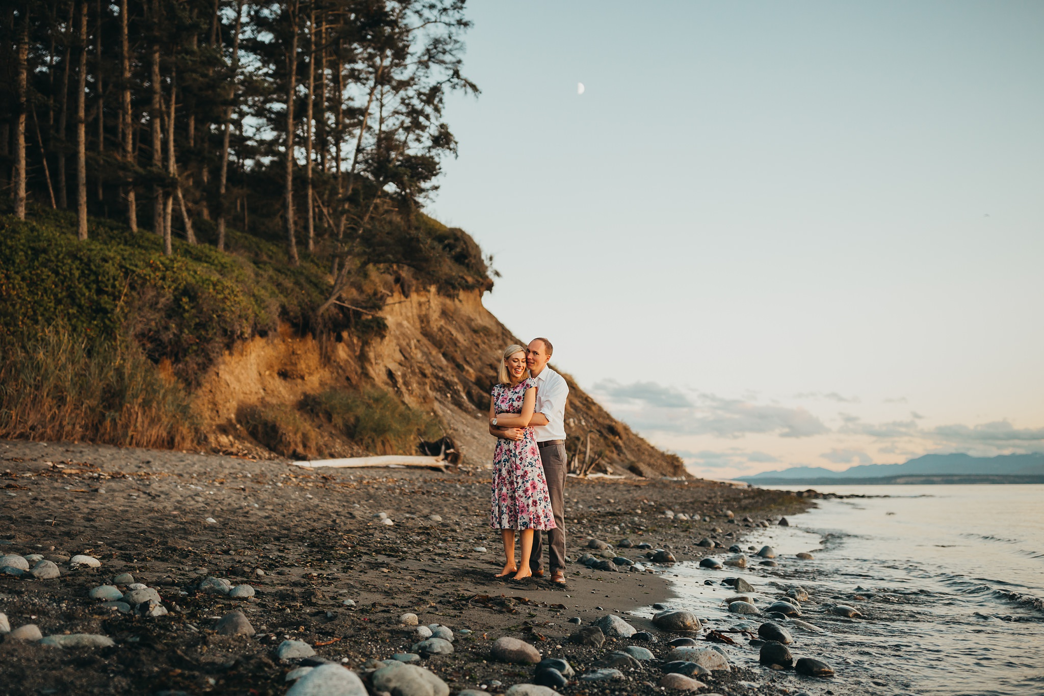 family pictures at fort ebey state park
