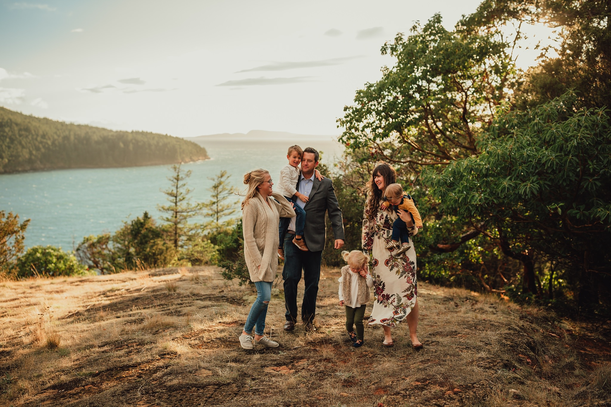 family pictures at Washington Park Anacortes