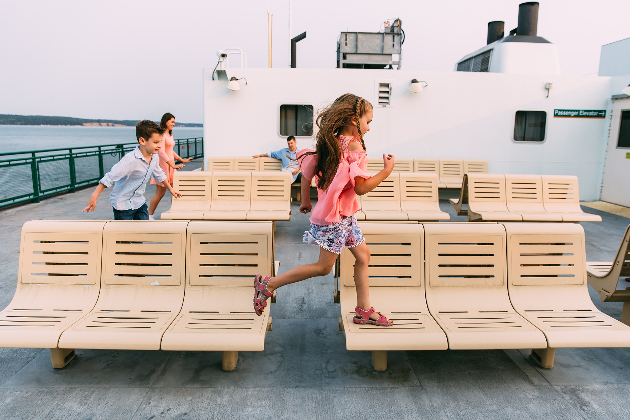 lifestyle portraits on the Port Townsend Ferry