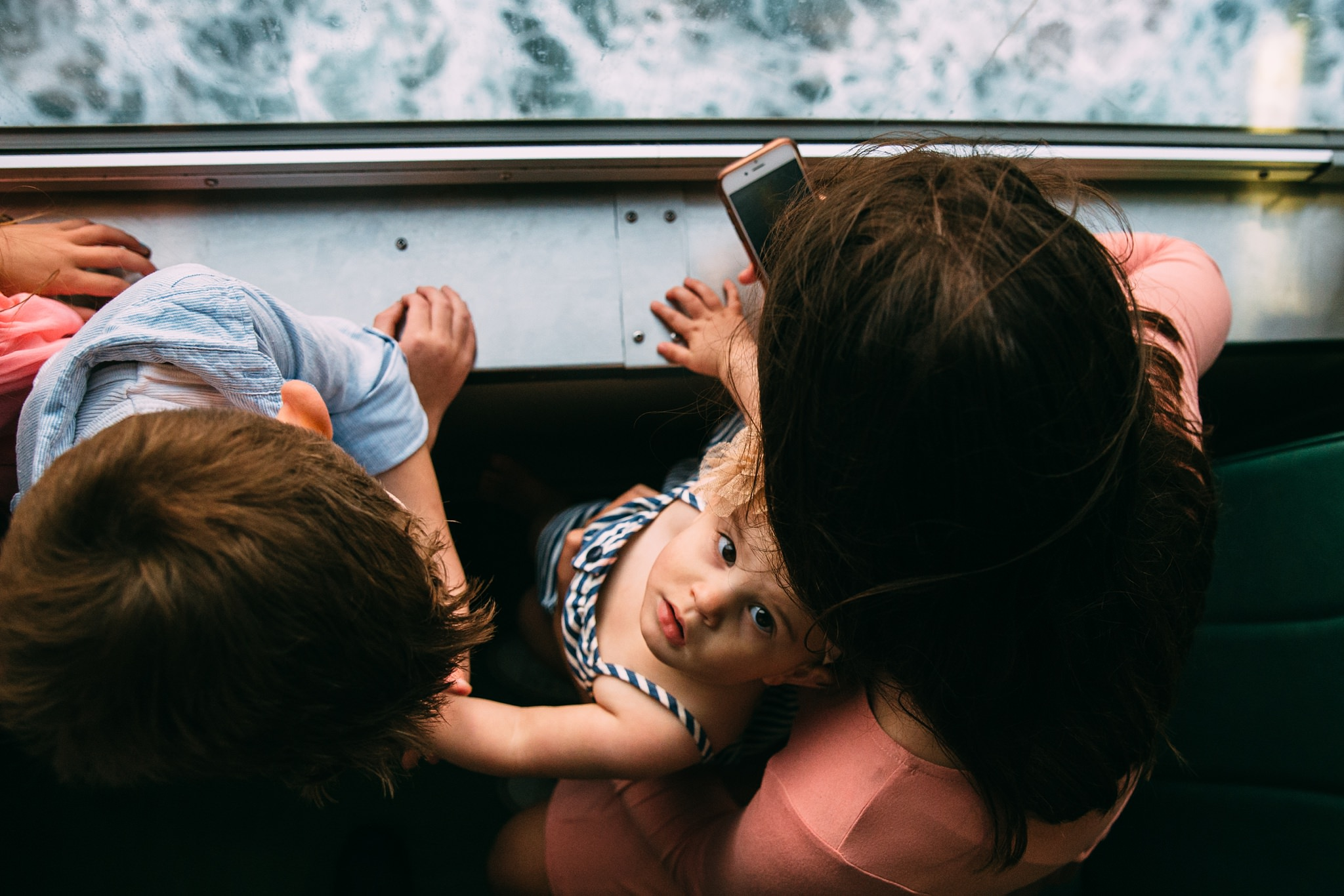 family pictures on the Port Townsend Ferry