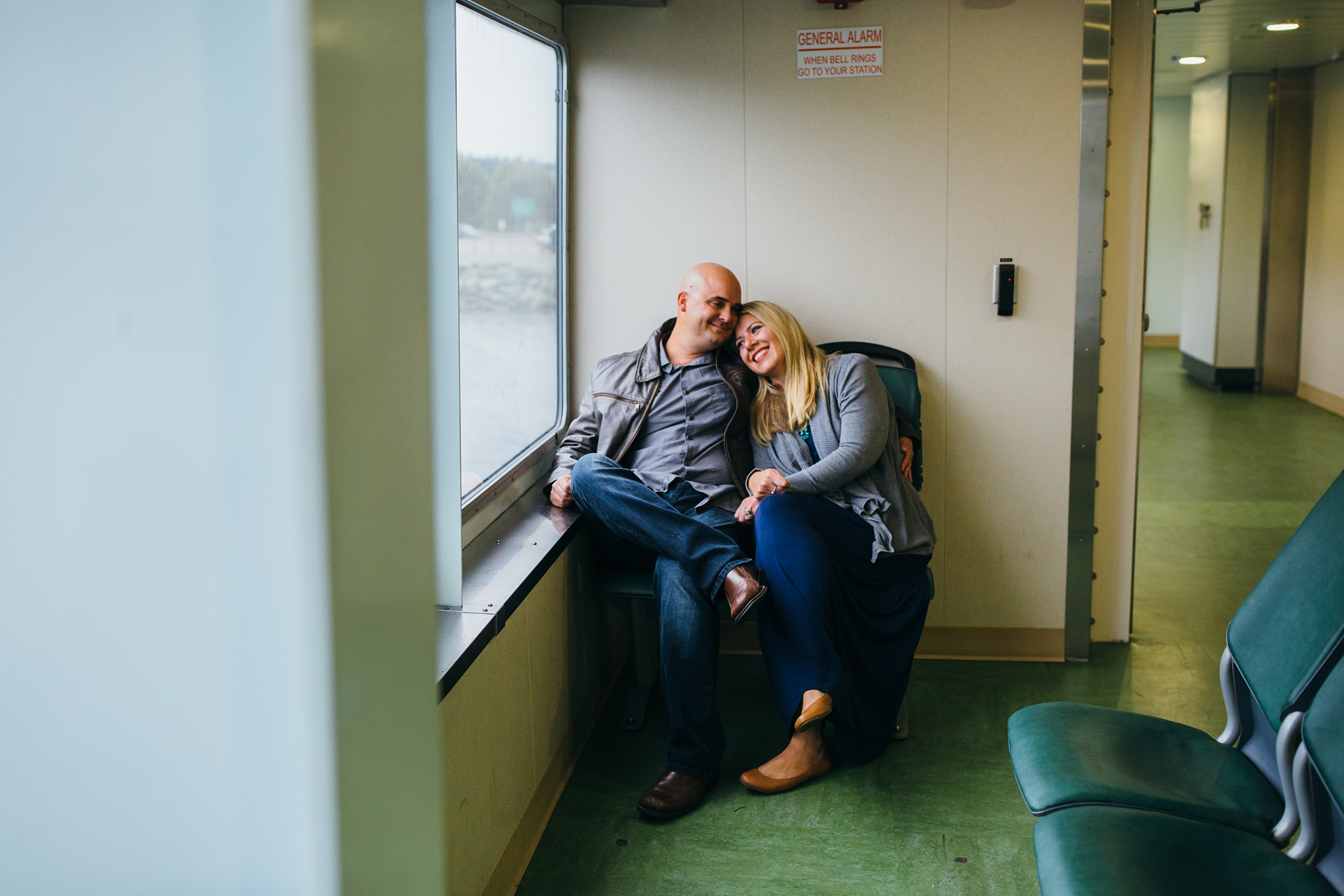 family portraits on the Port Townsend Ferry