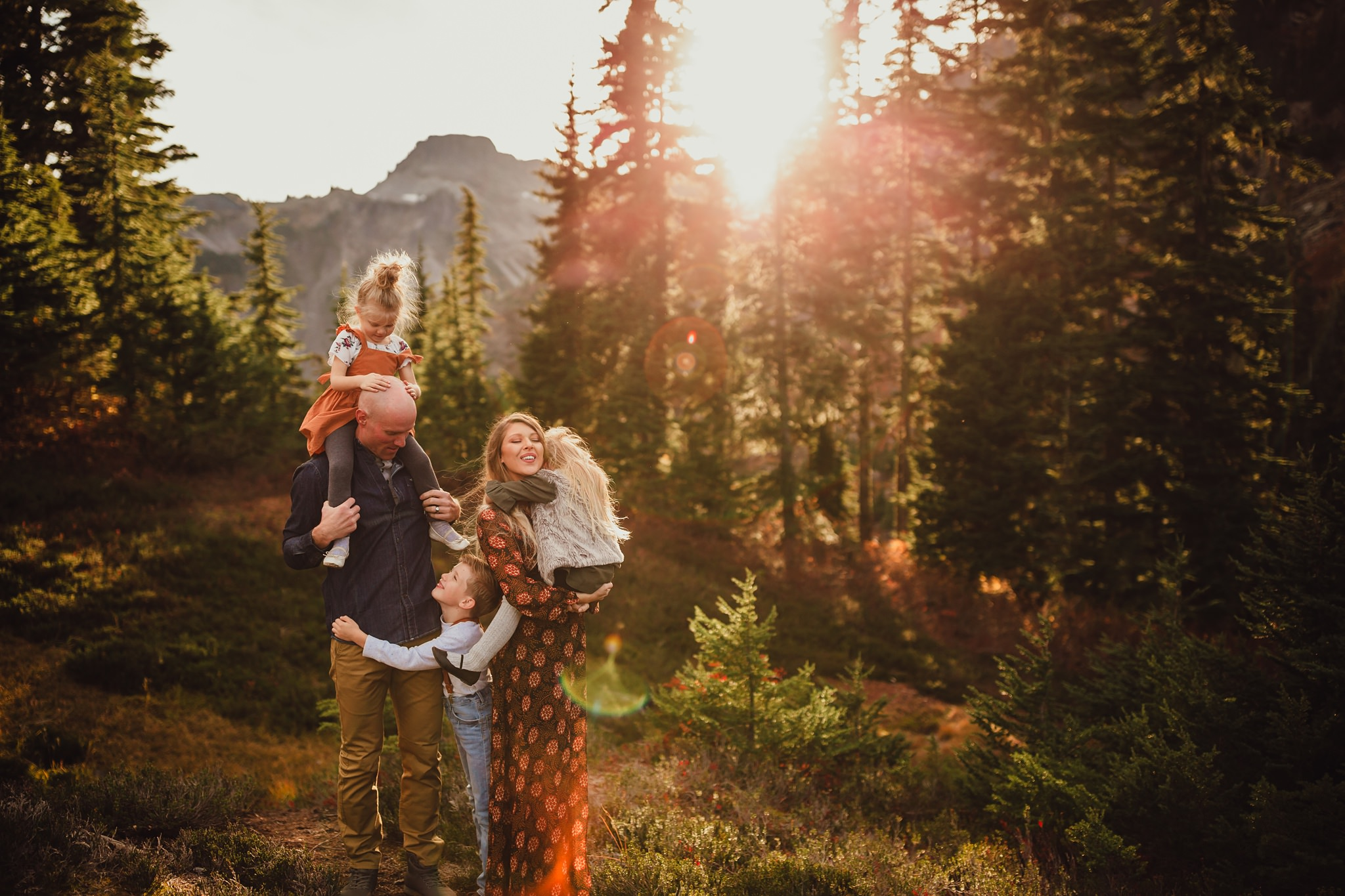 family pictures at mount baker