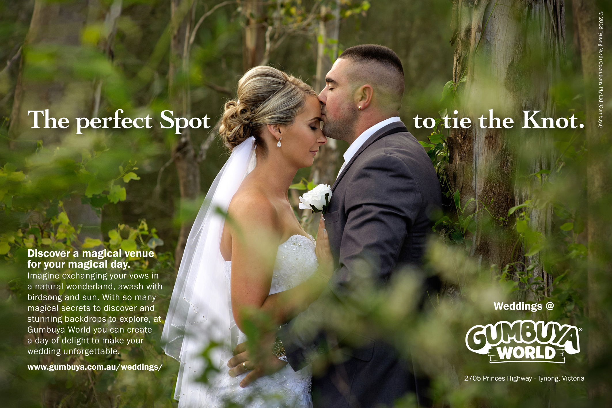 Gumbuya World - weddings flyer