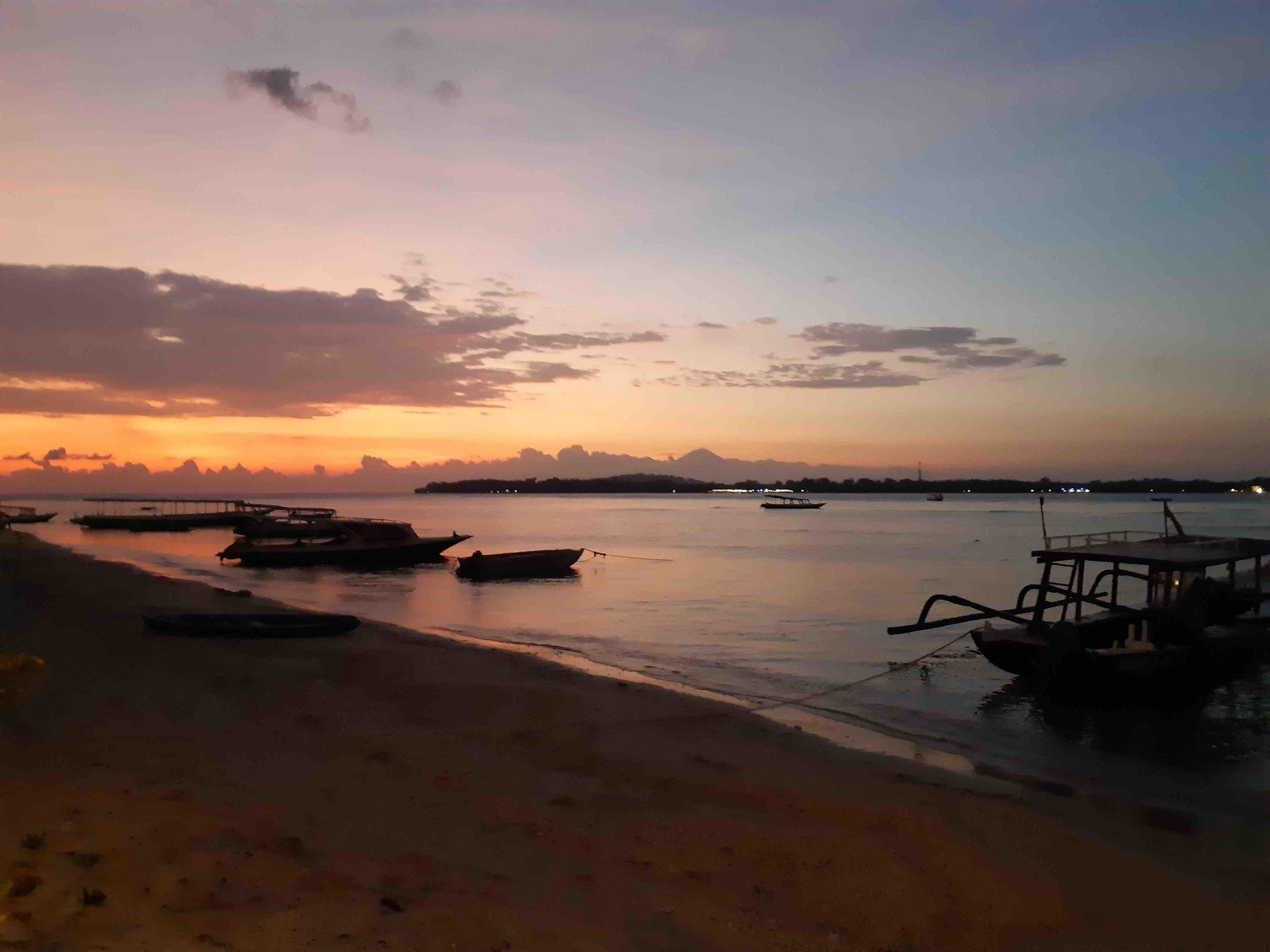 James Buchanan | Sun setting over Gili Meno