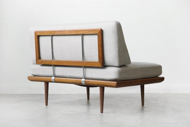 """Early Peter Hvidt & Orla Mølgaard """"Minerva"""" daybed sofa."""