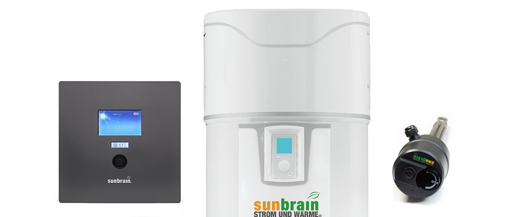 Sunbrain 2 mit Brauchwasserwärmepumpe und Heizungsunterstützung 2 für Pufferspeicher