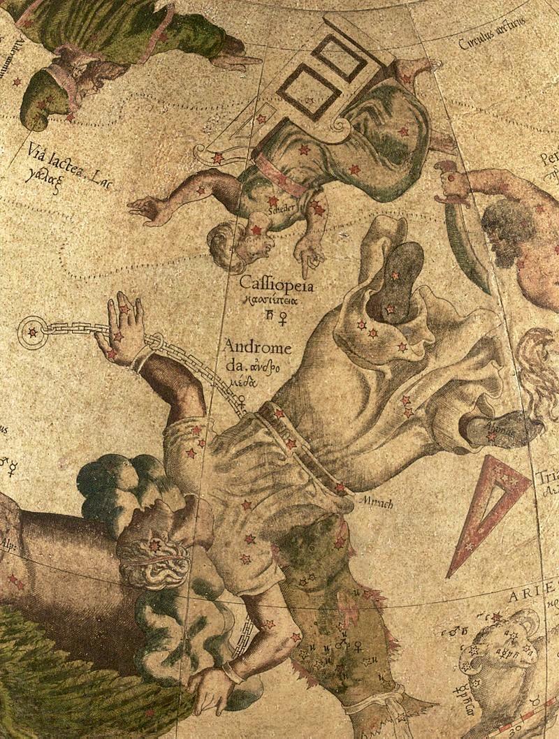 Andromeda Constellation_Gerardus Mercator_Celestial Globe