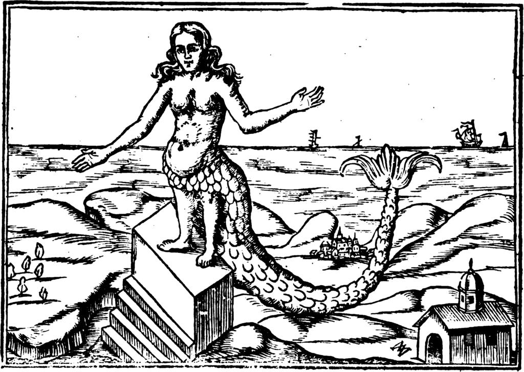 Derketo the Syrian Goddess. From: Athanasius Kircher,  Oedipus Aegyptiacus , Romae : ex typographia Vitalis Mascardi, 1652-1654, 1652