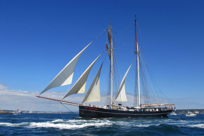 Wylde Swan er den største to-mast topsail skonnert i verden. Fotograf:  Ph. Saget