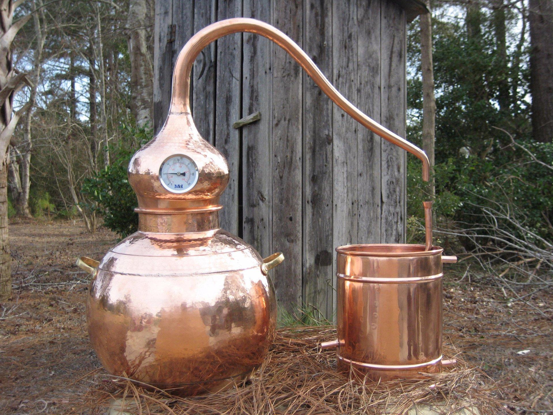 25L alembic copper still