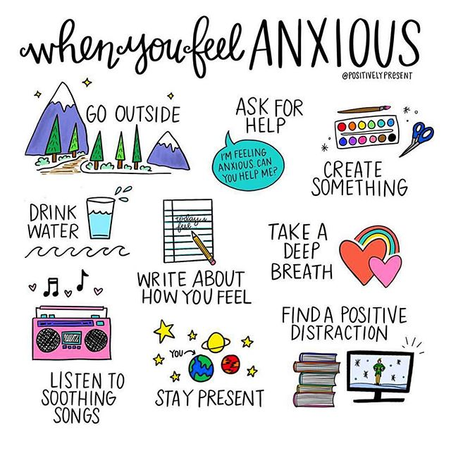 Next time you're feeling anxiety creep up, give one of these a try! . What do you do to show yourself how much you care!? . 📷 @positivelypresent