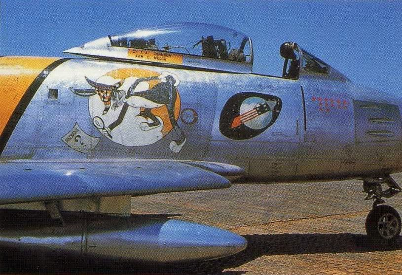 Robbie Risner's F-86 with the  336th Fighter Squadron  in 1953.
