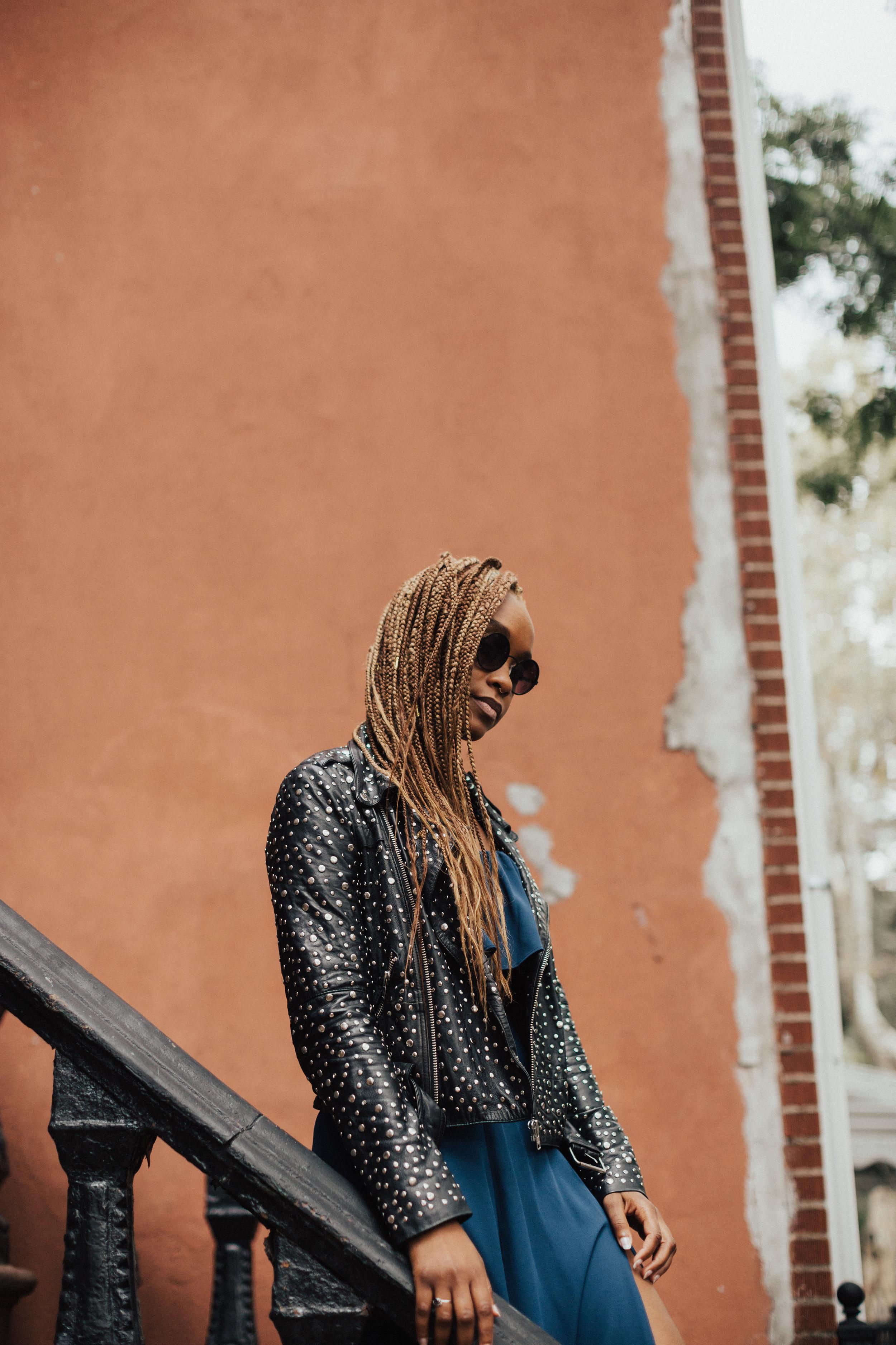 Jacket: Free People via Ebay, Carmen Maxi Dress:  Yumi Kim