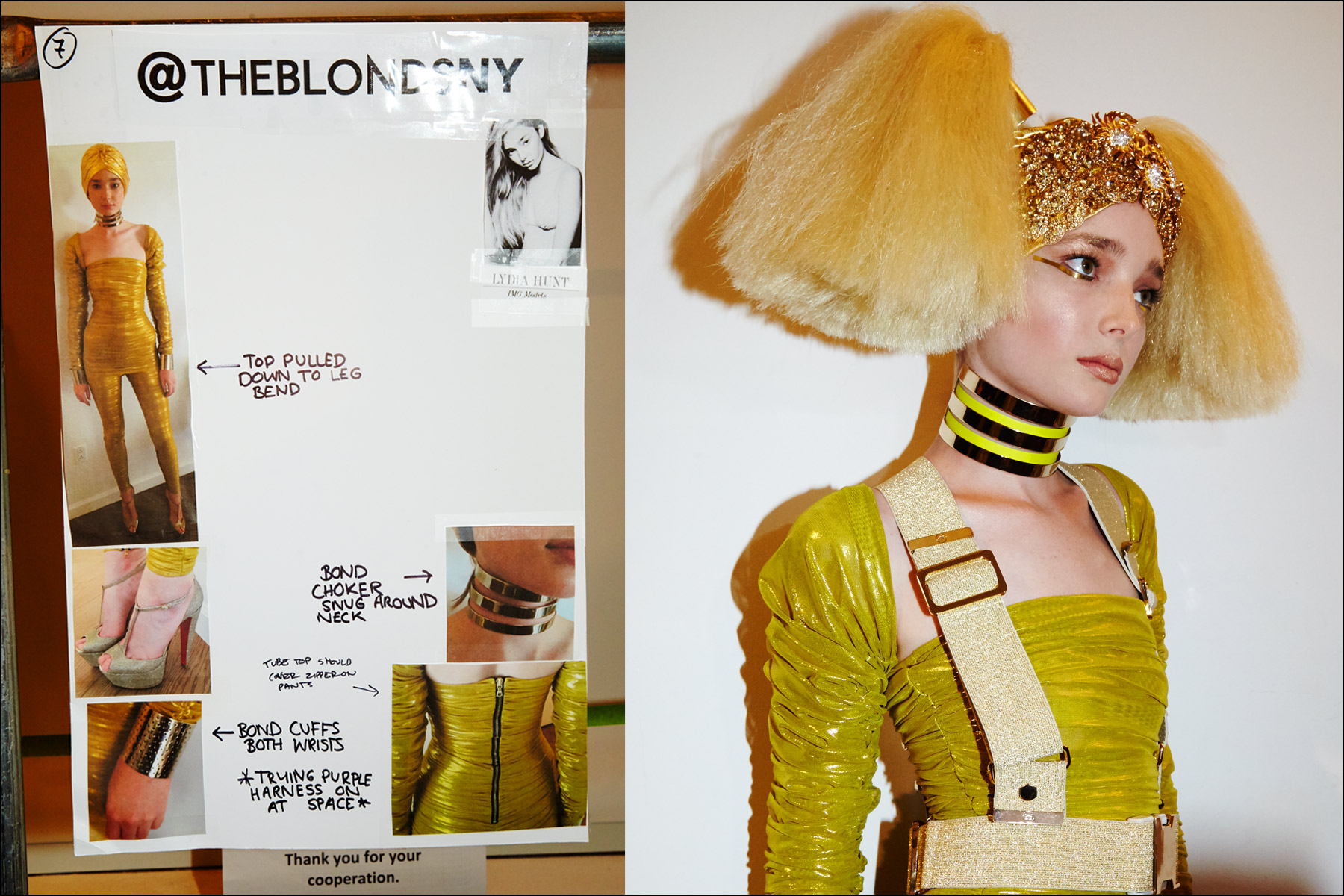 Model Lydia Hunt at The Blonds
