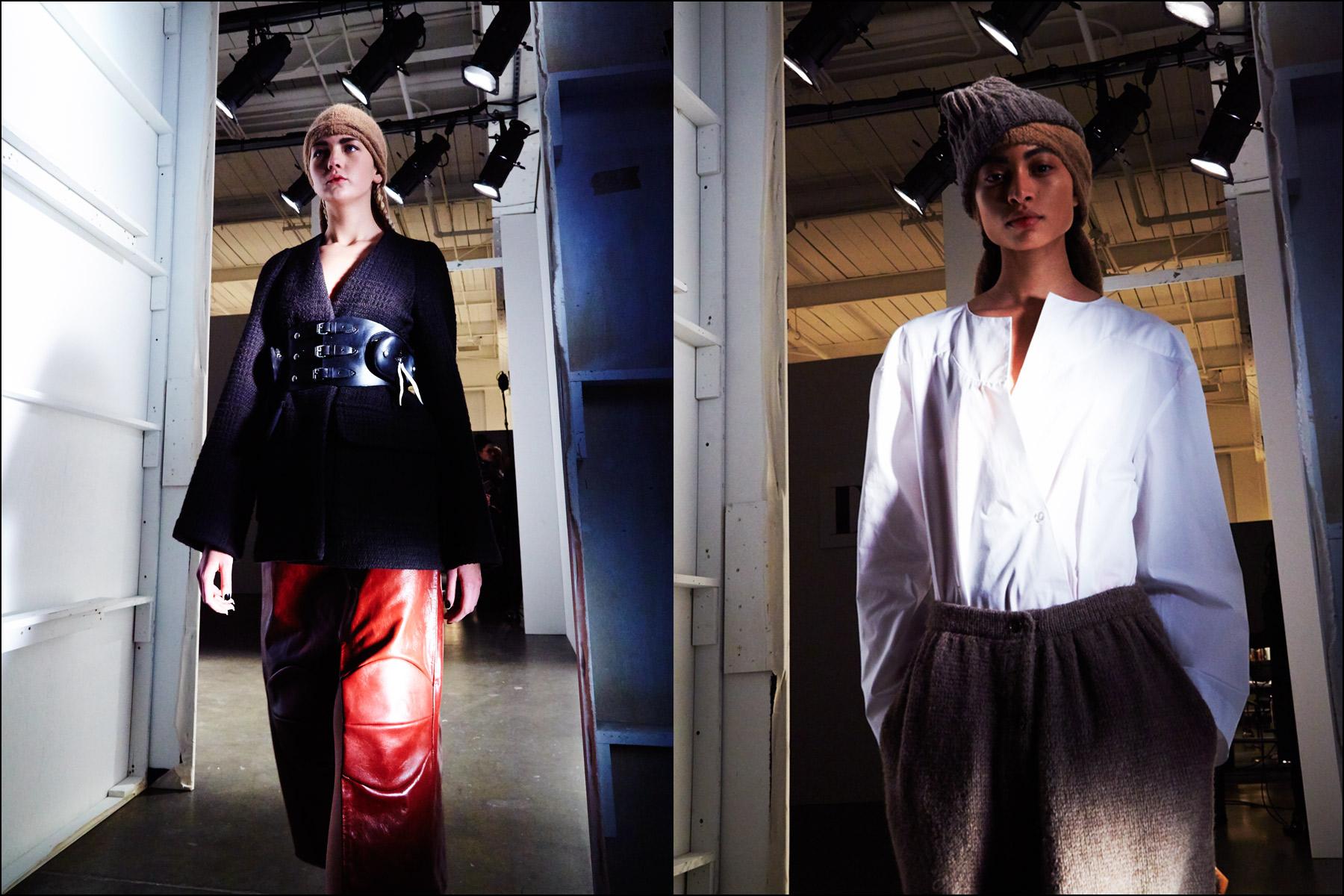 Models exit stage backstage at A Détacher