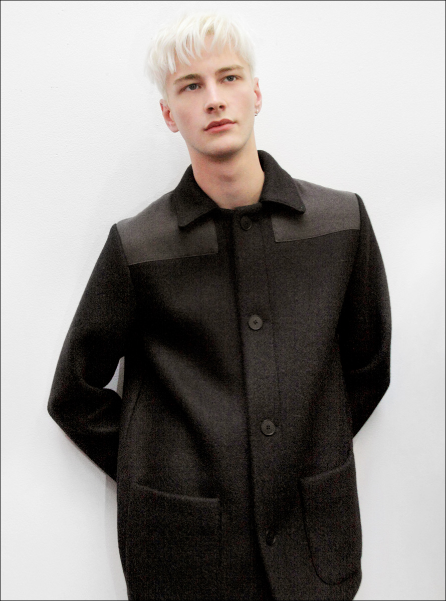 Benjamin Jarvis backstage at Duckie Brown
