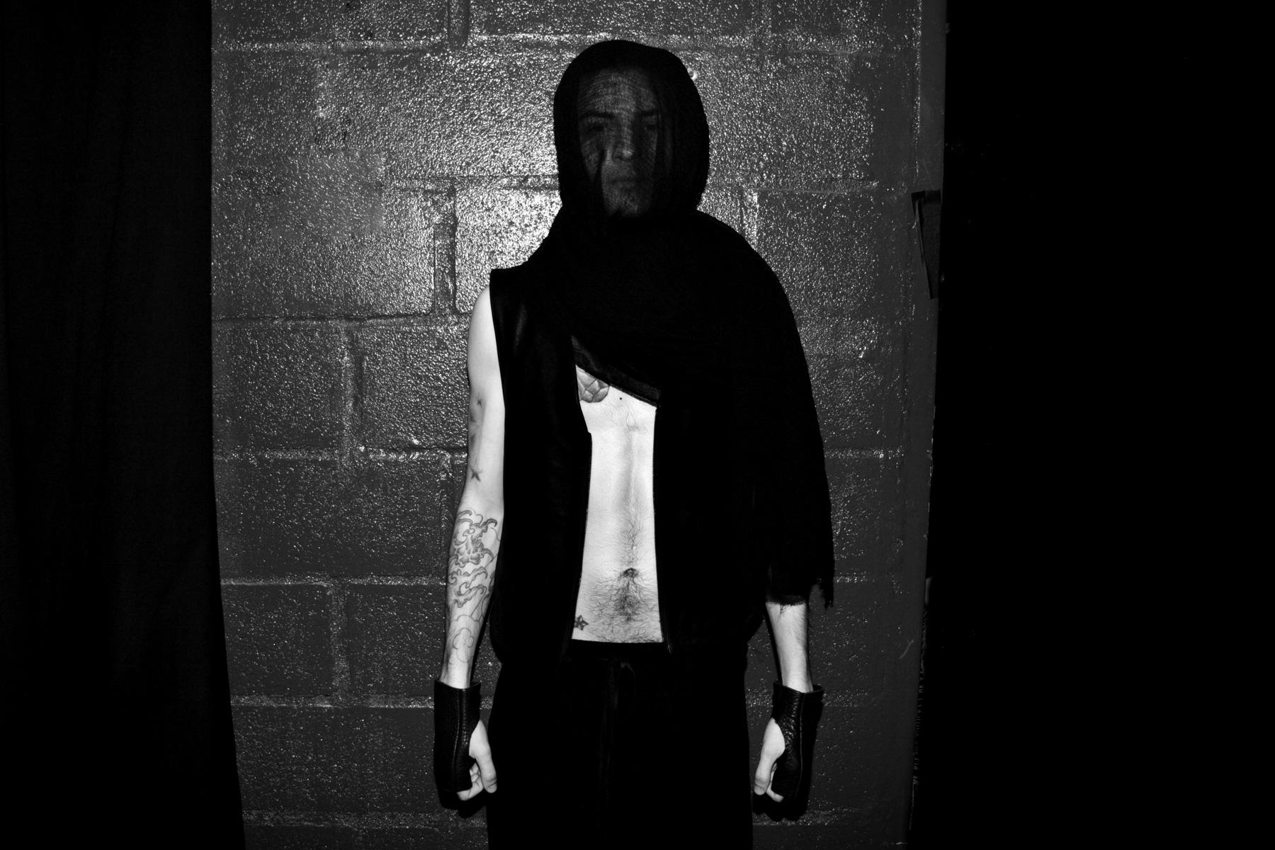 Model in veil