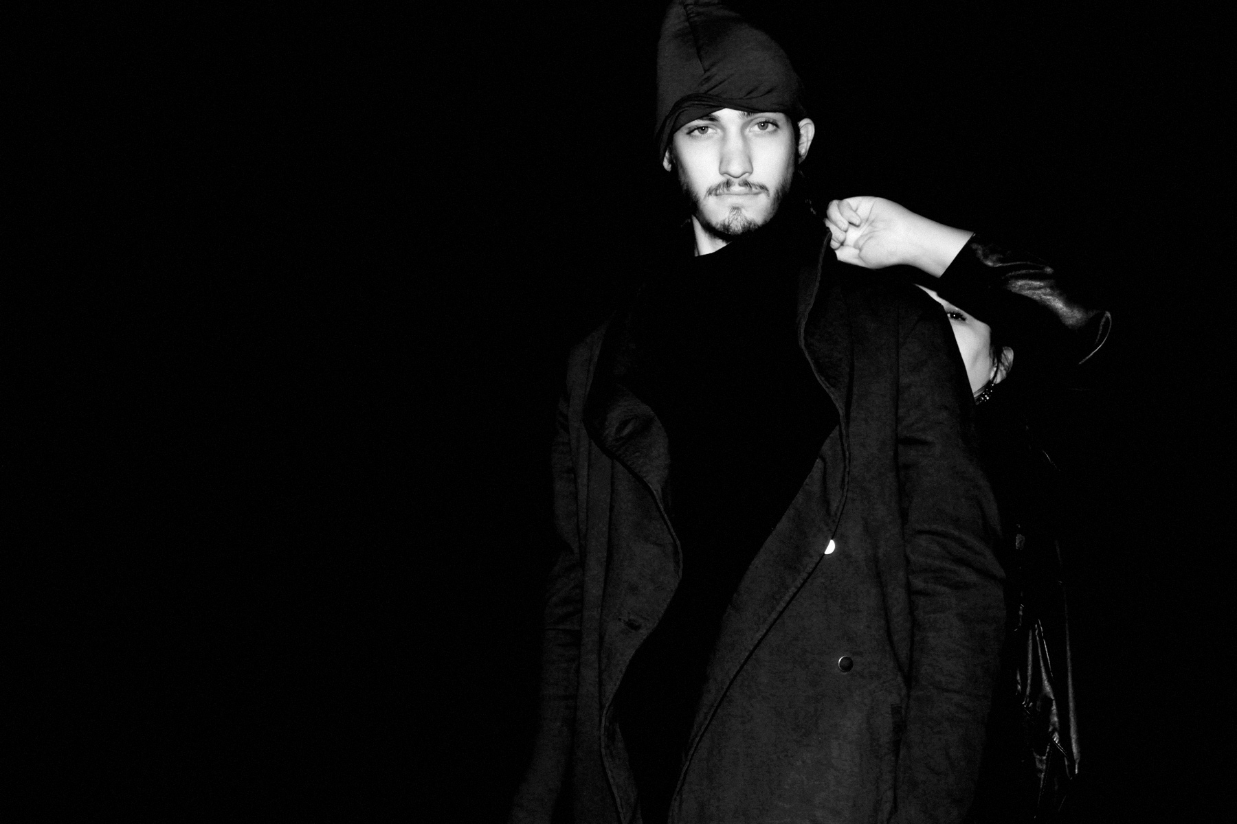 Male model in outerwear
