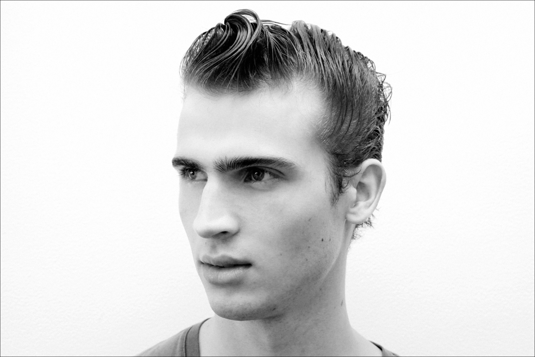 Male model at Patrik Ervell