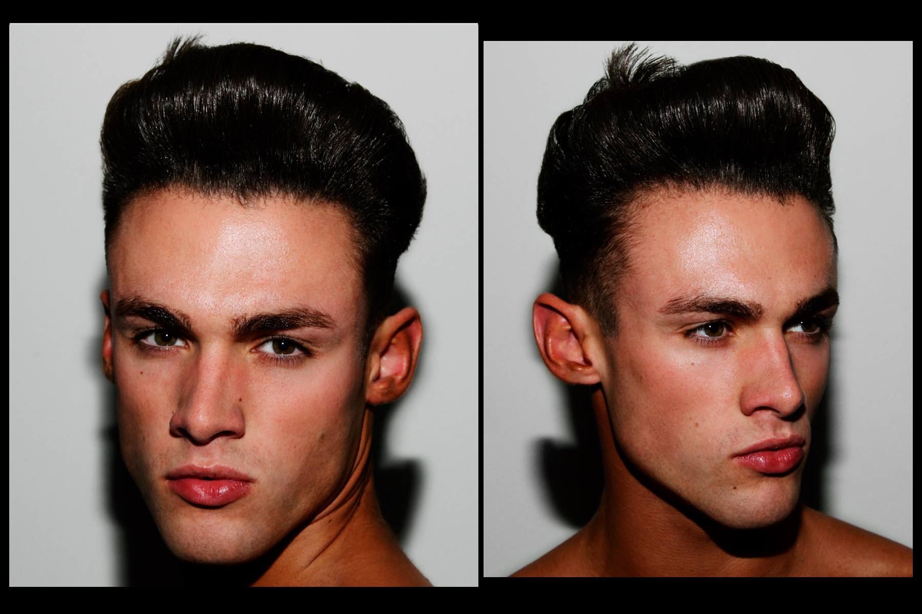 Pompadours backtage at Martin Keehn