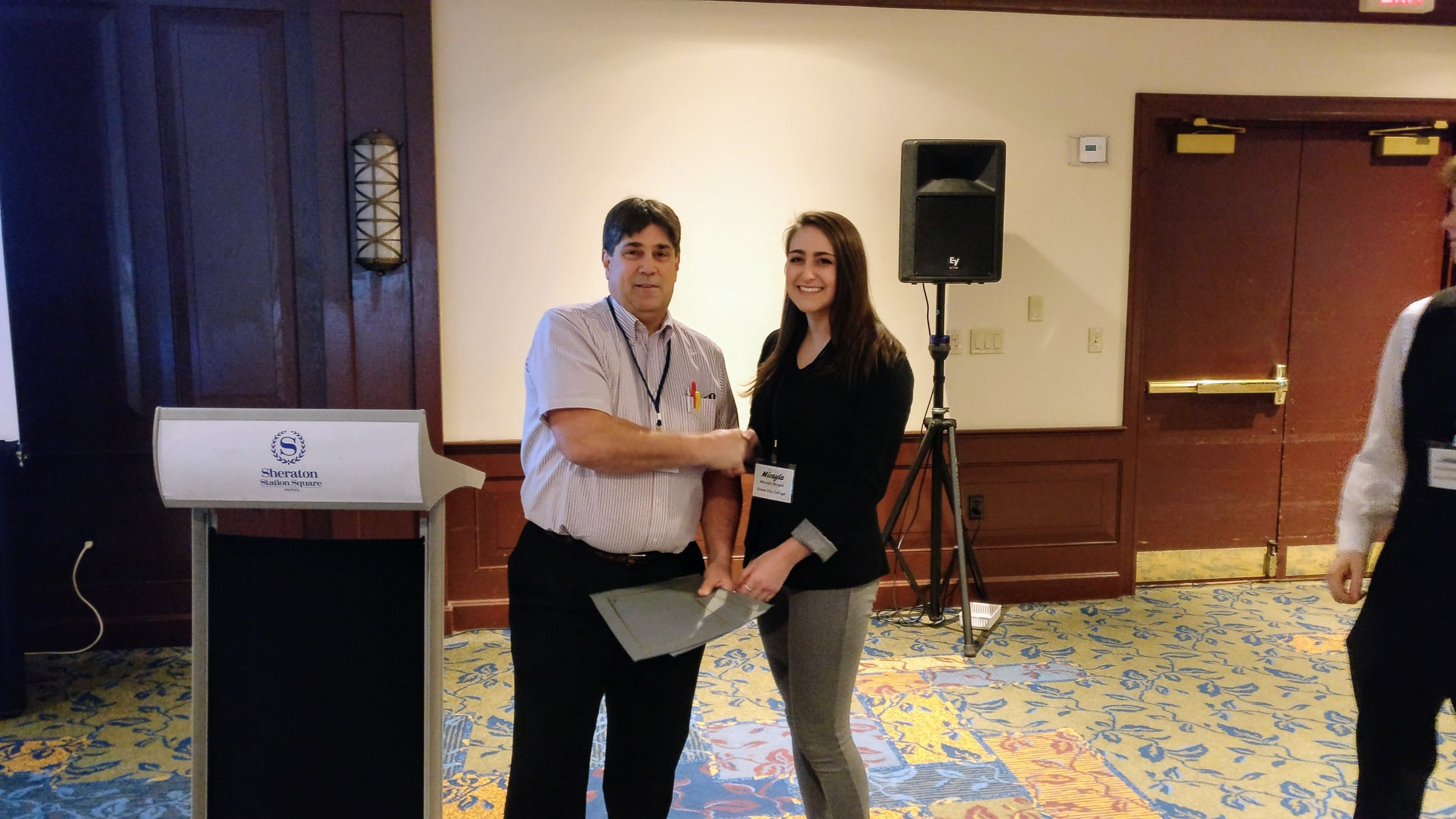 Congratulations to Micayla Wright for receiving a Student Activities Member scholarship this year.