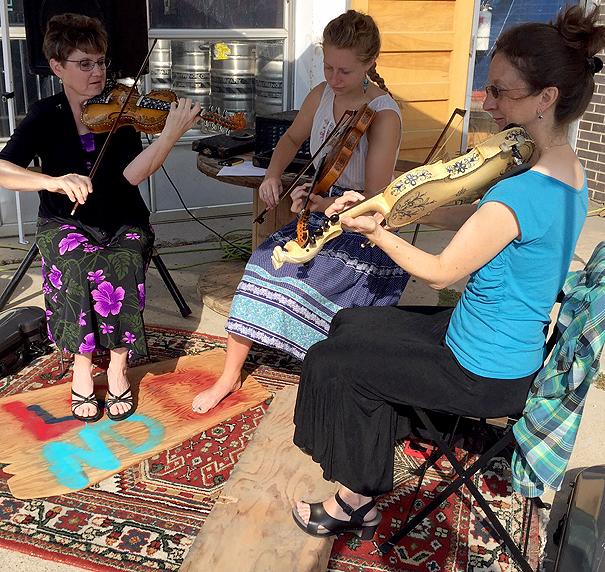 Hardanger Trio! Joan Covington, Maija Lindaas, and Alison Wallace