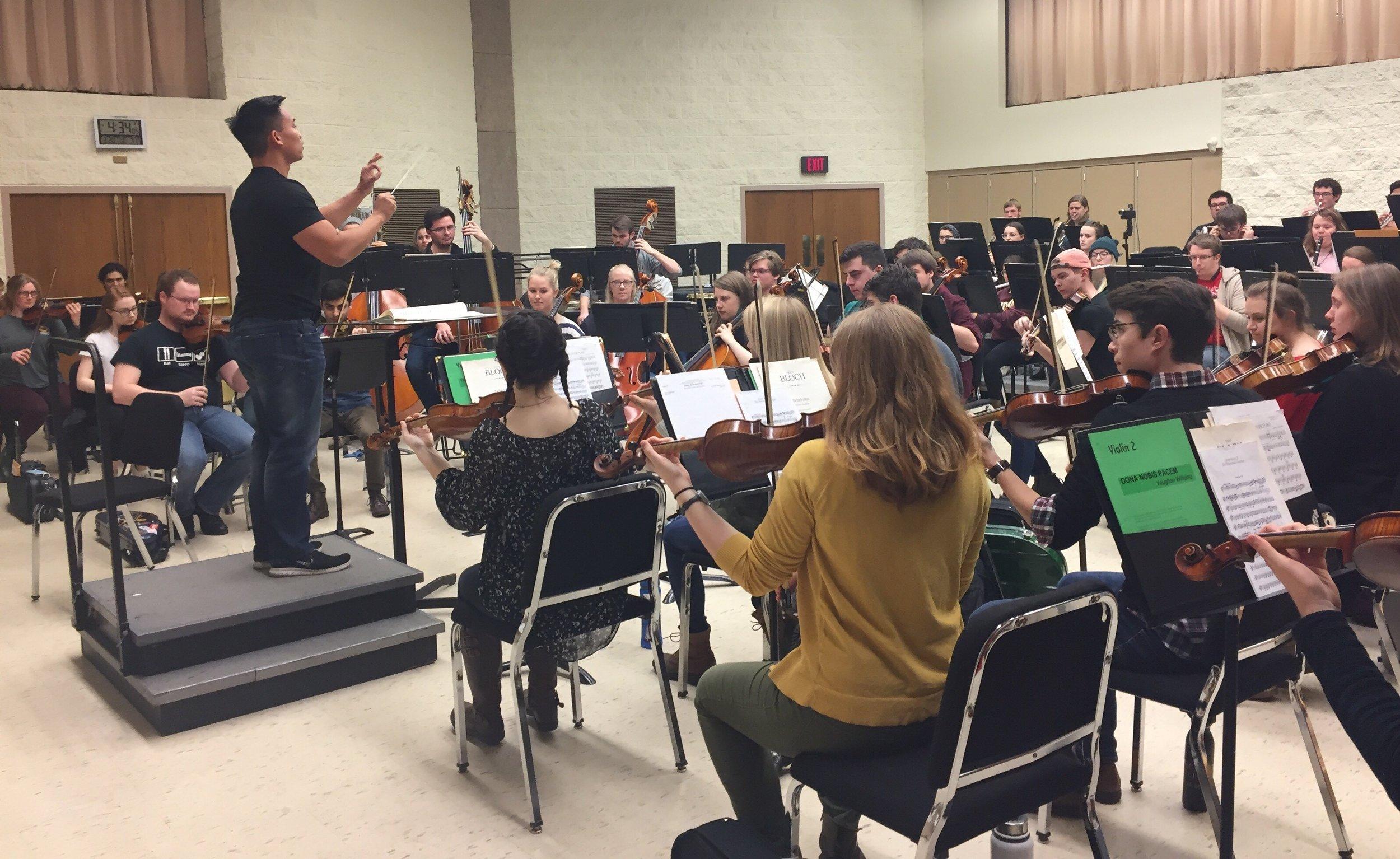Conducting The Concordia Orchestra