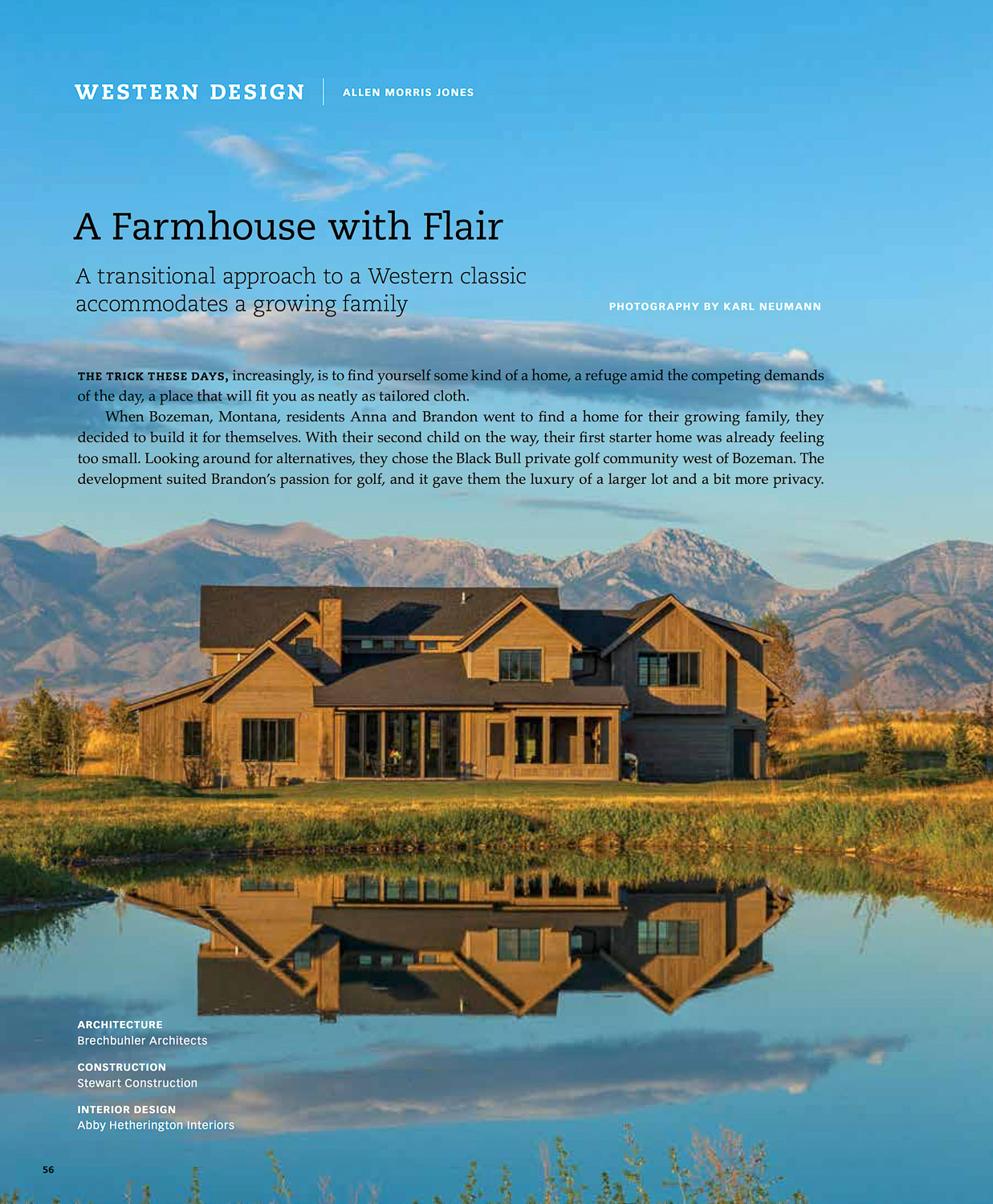 Big Sky Journal Summer 2016 Write-up on Brechbuhler Architects' Farmhouse Modern