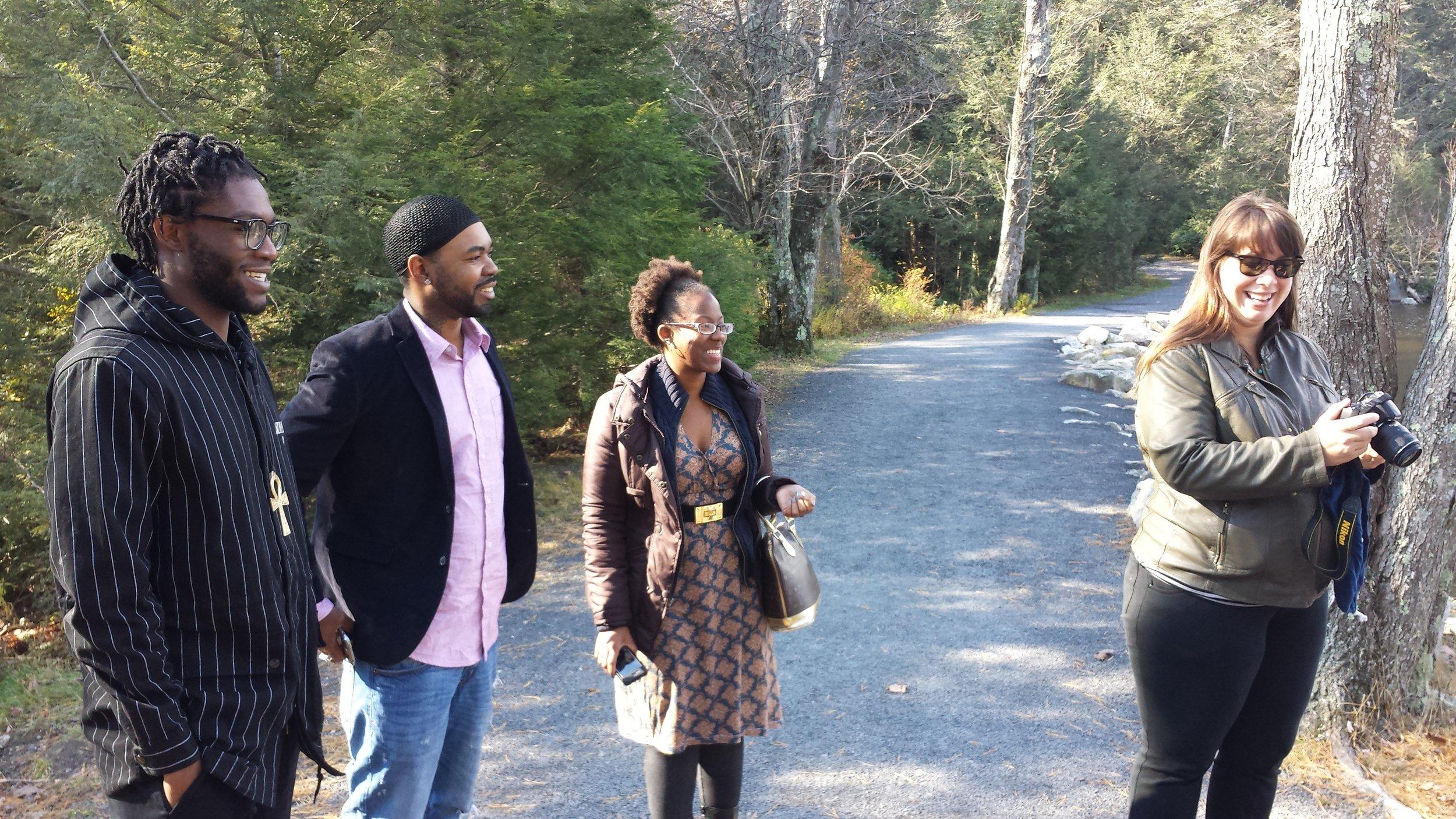 Research Team (L to R) Kondwani Jackson, Brian K Jones, Allison Guess, Eve Tuck. (Not pictured: Mistinguette Smith)