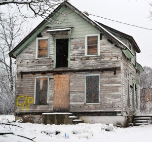 House marked for razing. Photo by Black/Land Project.