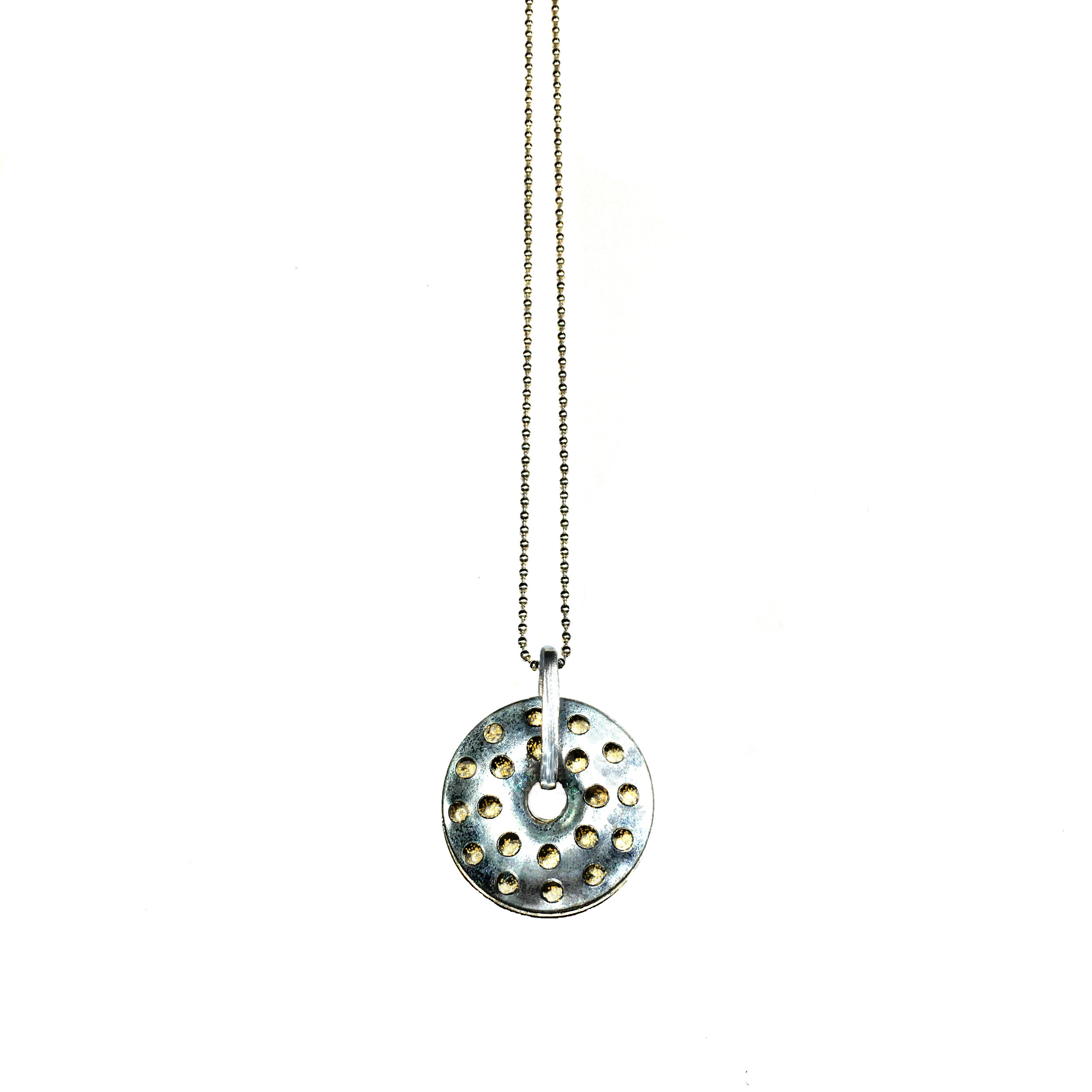Plaster Button Necklace  from the Sterling Hard Wear Collection