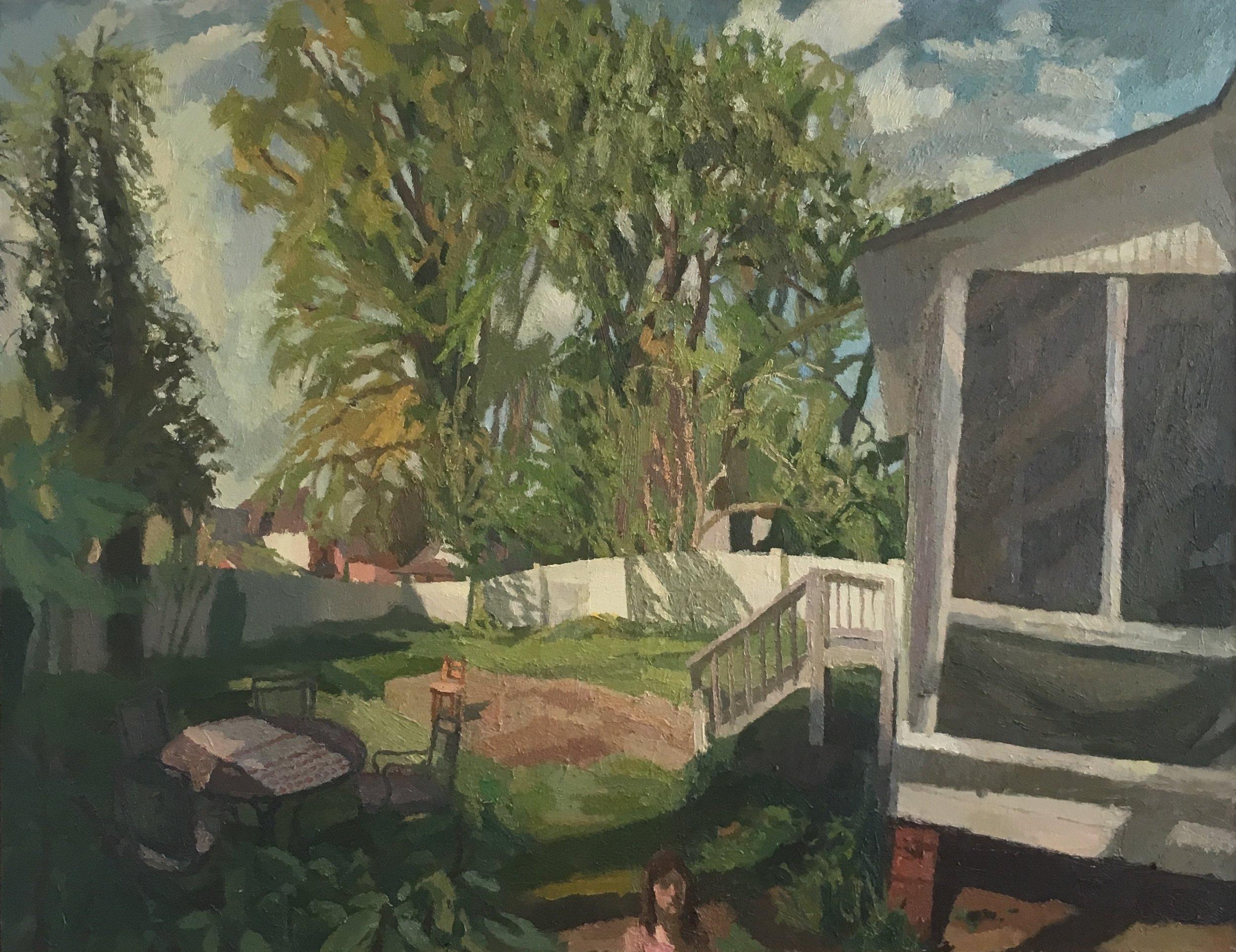 Backyard at Woodrow Street