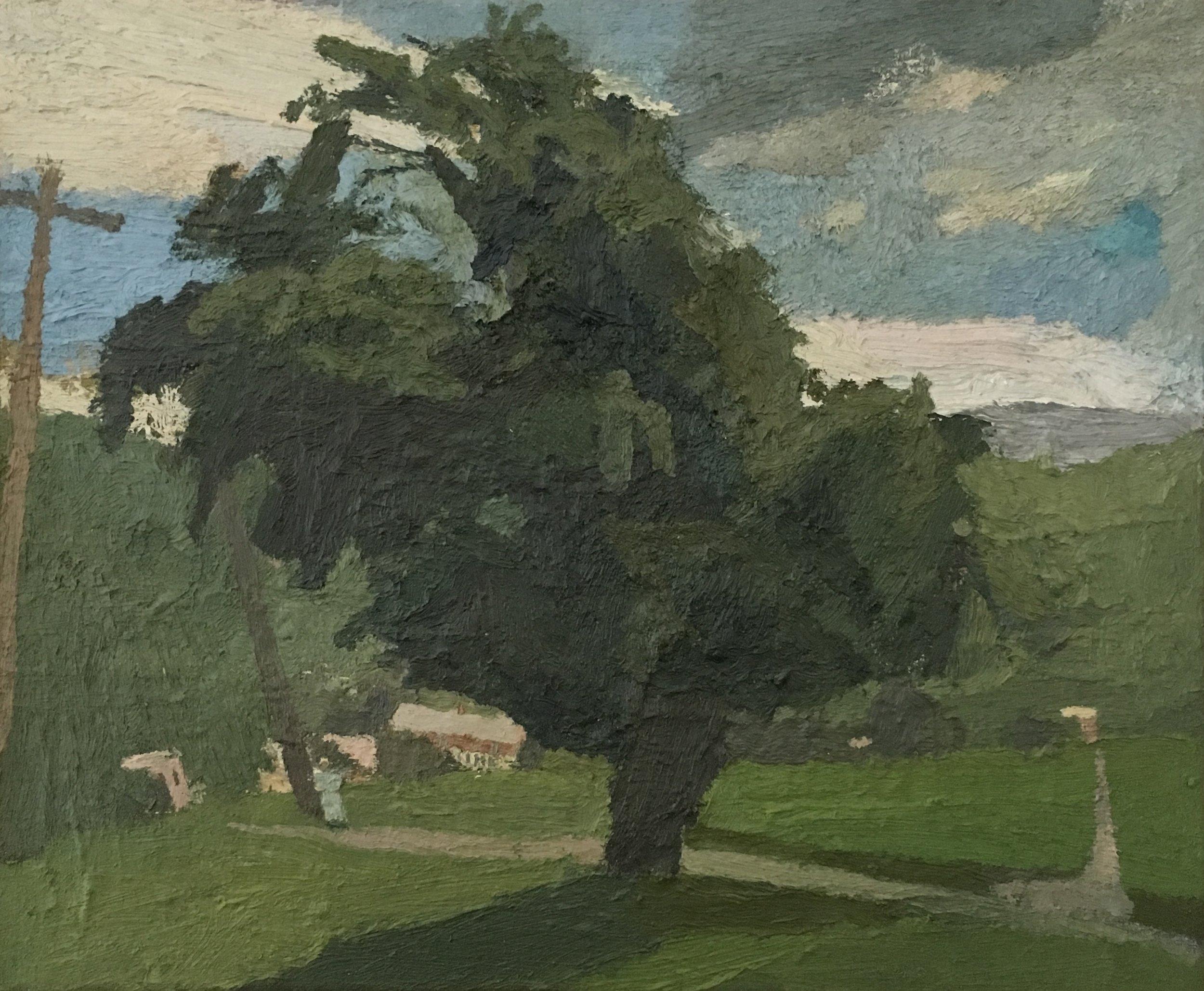 Tree by a Mennonite Church