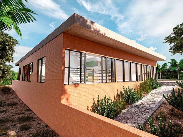 Em uma comunidade quilombola com muitas casas ainda em taipa, fizemos uma referência à cultura local utilizando tijolos e cobogós de barro nas paredes externas da UBS (nas áreas de atendimento, os revestimentos são claros e de fácil limpeza).⠀ ⠀ Projeto para o concurso da Unidade Básica de Saúde do Gurugi, na Paraíba, em parceria com @studiomemm. ⠀ ⠀ ⠀ ⠀ ⠀ #architecture #archilovers #arquitectura #decor #design #interiordesign #homedecor #interior #home #interiors #homedesign #style #interiordecor #decoration #inspiration #interiordesigner #interiorstyling #art #designer #furniture #interiorinspiration #love #instahome #luxury#arquitetura#decoração#interiores#arte#fotografia#luxuryhomes