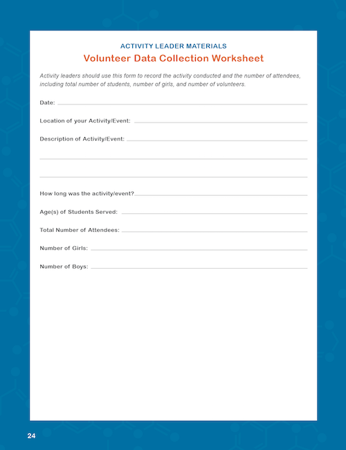 Volunteer Data Collection Worksheet