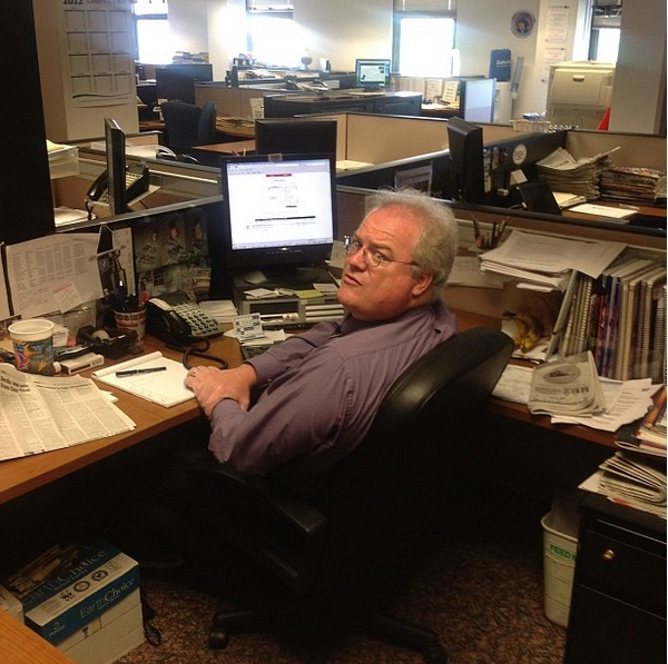 Mike Stephenson worked on stories at the St. Petersburg/Tampa Bay Times for 23 years. (Photo courtesy Gary Duchane.)