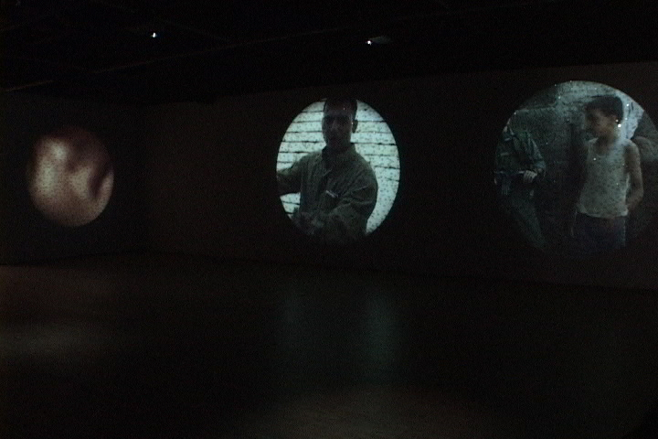 Site projection at the Harbourfront's York Quay Gallery