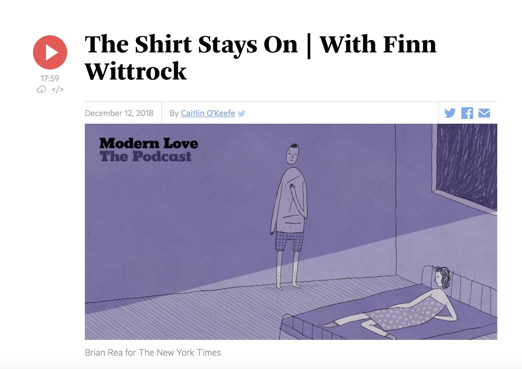 Interview on Modern Love podcast - NYT/WBUR